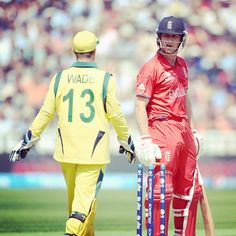 Matty Wade & Jonathan Trott face-off at the #CT13 #Cricket