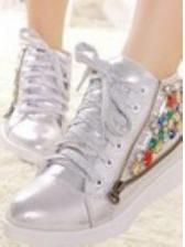 Increased high flat personality help sequins in women's shoes $ 29.68