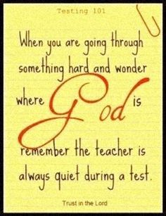God is our teacher.
