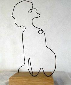 créer votre portrait en fil de fer à partir d'une photo sur http://www.alittlemarket.com/boutique/fildereve