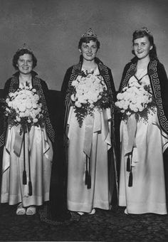 1958 Jobs Daughters, Betty Jean, Joanne, and Marylin. Jobs Daughters, Holland Michigan