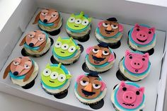 Coco Cake Cupcake.  Love the martian!