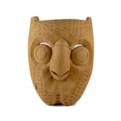 Mexican Folk Art Owl Mask - Vintage Owl Mask for Halloween - Mexican Tribal Mask by BatnKatArtifacts