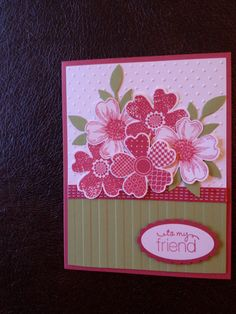 Flower Shop card in Primrose Petals and Pear Pizzazz