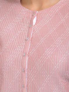 Madhu Coffin Nails coffin nails w diamonds Embroidery Suits Punjabi, Embroidery On Kurtis, Kurti Embroidery Design, Embroidery Fashion, Hand Embroidery, Neck Designs For Suits, Dress Neck Designs, Sleeve Designs, Blouse Designs