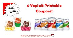 You can get great savings on these 6 Yoplait Printable Coupons. Be sure to print now because once the limit is reached they will be gone.  Click the link below to get all of the details ► http://www.thecouponingcouple.com/yoplait-printable-coupons/ #Coupons #Couponing #CouponCommunity  Visit us at http://www.thecouponingcouple.com for more great posts!