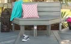 Discover the many Trex deck board styles and colors available, such as Island Mist. Order samples of Trex composite decking to find your perfect fit! Deck Seating, Outdoor Seating, Outdoor Decor, Extra Seating, Hidden Deck Fasteners, Trex Composite Decking, Garden Furniture, Outdoor Furniture, Southern Porches