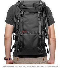 a3060cdf1587 Men s double shoulder bag waterproof backpack travel backpack Rucksack  Backpack