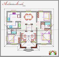 3 Bedroom House Plan In 1200 Square Feet Eith Nalukettu Style Design Beautiful Courtyard