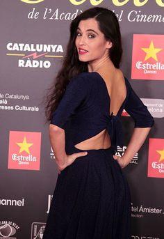 Silvia Pérez Cruz, con un vestido de la colección SS16 de Cortana, durante la entrega de los Premios Gaudí 2016