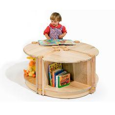 2017 New Design Wooden Furniture Kids Round Storage Montessori Furniture With Children Use
