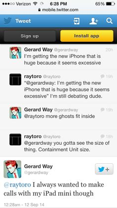 """I lost it at """"there's more space for ghosts"""". Gerard's tweets give me life."""