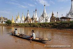 Channel following the Aung Mingalar pagoda, Inle lake, Myanmar    Canal longeant la pagode Aung Mingalar, lac Inlé, Birmanie     http://mozaikvoyages.com  http://birmanievoyages.com