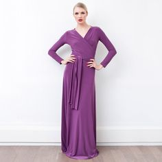 Quick! Flash sale on transformer dresses! These are the best!  Victoria Transformer Dress Plum, $75, now featured on Fab.