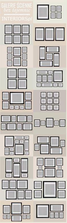 Colocar fotos en la pared con diferentes tamaños en los marcos!