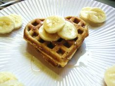 Banana Cinnamon Waffles  (Whole wheat w/ flax seed meal)