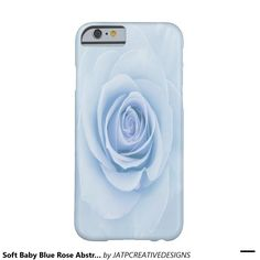 Soft Baby Blue Rose Abstract iPhone 6 Cases Barely There iPhone 6 Case