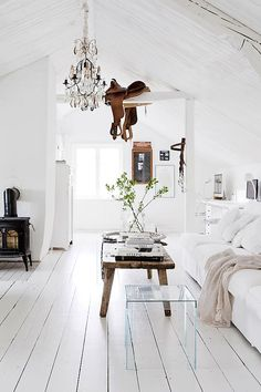 White renovated farmhouse in Sweden