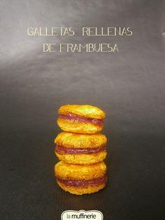 Raspberry filled cookies / Galletas rellenas de frambuesa. La Muffinerie.com