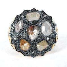 Abstract Mixed Ice Diamond Ring tobylynngems@aol.com