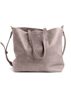 Abera Crossbody Leather Tote- Pewter - Vineworks