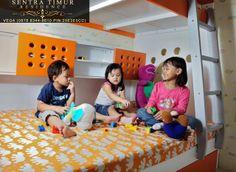 Jual Apartemen Murah. Contoh kid's room di Apartemen Sentra Timur Residence untuk type 36 (2 bedroom)  http://sentratimur.vegaaminkusumo.com #sentratimur #sentra_timur #apartemen_murah #jual_apartemen #sentra_timur_residence #apartemen  #pool #kids_room #bedroom