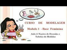 CURSO DE MODELAGEM -AULA 2- NOÇÕES DE DESENHO PARA MODELAGEM E TABELA DE MEDIDAS…