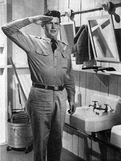 """P.L.O."" (Permanent Latrine Orderly) Pvt. Will Stockdale, played   by Andy Griffith in No Time for Sergeants."
