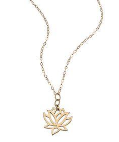 $45 Athena Designs Lotus Pendant Necklace #maxandchloe