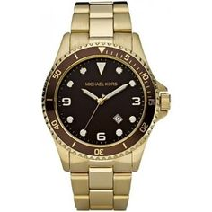 Michael Kors Mens MK7058 Stainless-Steel Quartz Watch with Brown Dial: Watches: Amazon.com