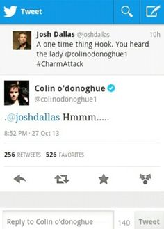 """I love how the cast of """"Once Upon A Time"""" interact with each other on Twitter."""