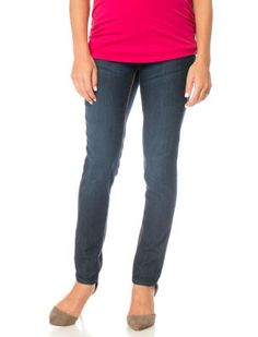 Fade To Blue Maternity Skinny Jeans, Dark Wash | Maternity ...