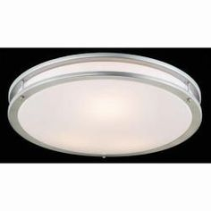 Shop for Silver and Milky White Modern Flushmount Ceiling Lamp . Get free delivery On EVERYTHING* Overstock - Your Online Ceiling Lighting Store! Bathroom Stuff, Bathrooms, Ceiling Lamp, Light Fixtures, Living Spaces, Home And Garden, White Colors, Good Things, Lighting