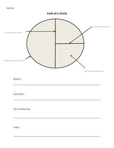 Parts Of A Circle Worksheet - Samsungblueearth