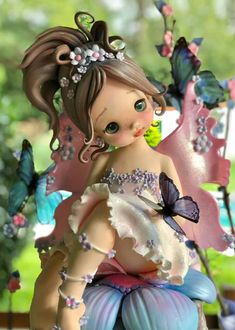 me ~ Best 12 Herend Porcelain China Key: 4591172643 – SkillOfKing. Polymer Clay Fairy, Polymer Clay Sculptures, Polymer Clay Dolls, Polymer Clay Miniatures, Polymer Clay Charms, Sculpture Clay, Diy Fimo, Clay Fairies, Fairy Figurines