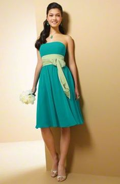 Jr. Bridesmaid Dress...can incorporate both colors using the sash!