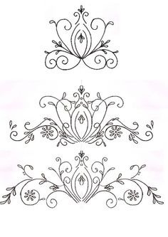 scroll patterns for cakes - Google Search
