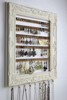 Earring Hanger, Jewelry Hanger, Earring Display, Earring Storage, Jewelry Box, Necklace Storage, Necklace Display, Jewelry Stand, Jewelry Rings