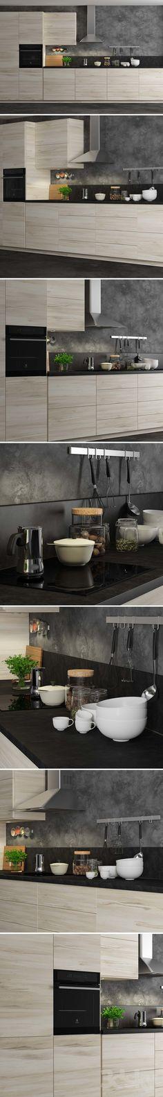 3d models: Kitchen - Kitchen Ikea Method Askersund.
