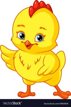 Cute baby chicken vector image on VectorStock Art Drawings For Kids, Cute Animal Drawings, Drawing For Kids, Cute Drawings, Art For Kids, Chicken Quilt, Chicken Art, Cute Chickens, Baby Chickens