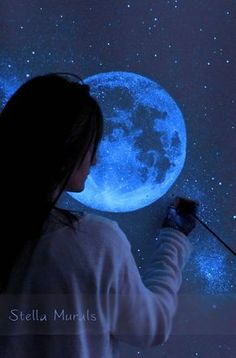 Glow in the Dark Star Murals Turn Your Room Into Cosmic Masterpieces – Source by uniquehunters Small Room Bedroom, Bedroom Decor, Bedroom Boys, Small Rooms, Bedroom Ideas, Spare Room, Small Spaces, Night Sky Drawing, Kunst Party