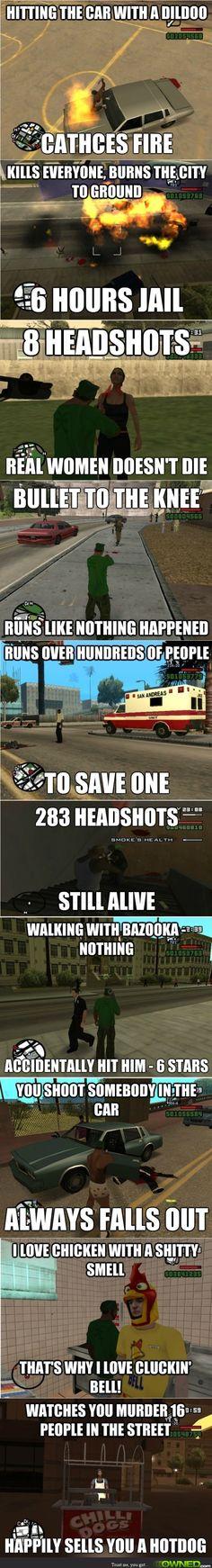 Grand Theft Auto San Andreas Game Logic Fail