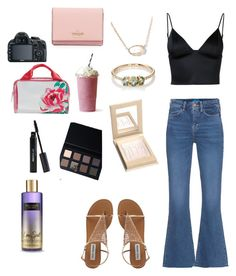 """""""Untitled #50"""" by riley-smith-3 on Polyvore featuring M.i.h Jeans, T By Alexander Wang, Jennie Kwon, Kendra Scott, Japonesque, Sigma, Victoria's Secret, Vera Bradley and Kate Spade"""