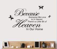 Toprate(TM) BECAUSE SOMEONE WE LOVE IS in HEAVEN THERE'S a...