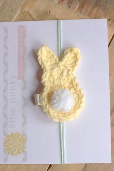 Crochet Hair Clip Crochet Hair Bow Baby Hair Clip by littlepunky, $5.00