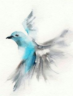 Dove water color tattoo