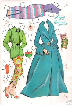 Dorothy Provine paper doll clothes