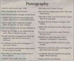 punography- It was a play on words! I actually laughed out loud