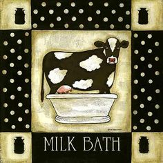 Laminas decoupage: COW MILKBATH FREE PRINTABLE FOR CARDS, SCRAPBOOKING, ART JOURNALS, LABELS, PACKAGING....