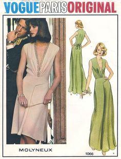 Vogue Paris Original MOLYNEUX Misses Evening Dress